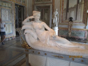 Pauline Bonaparte at the Galleria Borghese